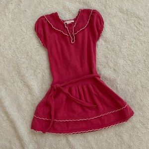 Janie and Jack pink sweater dress size 3